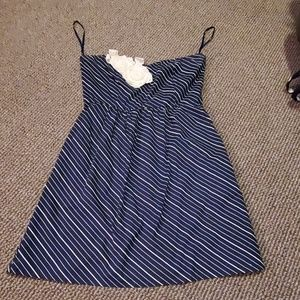 Judith March size M Navy strapless dress